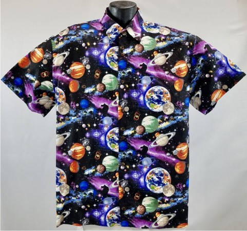 Astronaut Outer Space Hawaiian Shirt